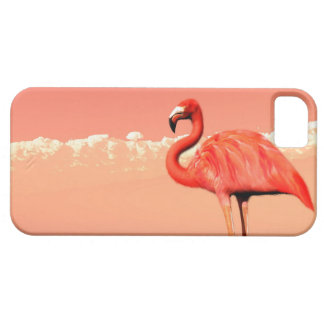 pPink flamingo in the water - 3D render iPhone SE/5/5s Case