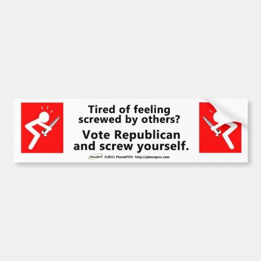 PPOV Bumper Sticker - Feeling Screwed?