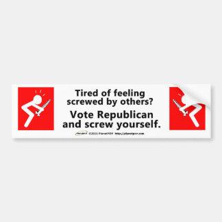 PPOV Bumper Sticker - Feeling Screwed? Car Bumper Sticker