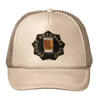 PPU (Potent Potables Unit) (black) Trucker Hat