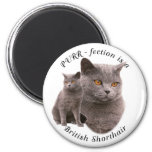 PPURR-fection British shorthair Blue 2 Inch Round Magnet
