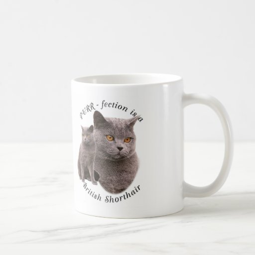 PPURR-fection British shorthair Blue Coffee Mug