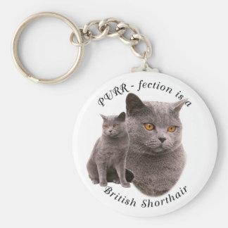 PPURR-fection British shorthair Blue Keychain