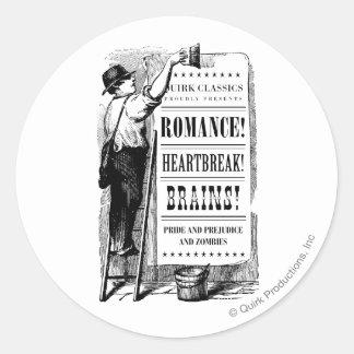 PPZ Regency Era Advert Basic Mug Round Stickers