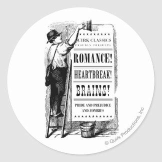 PPZ Regency Era Advert Basic Mug Classic Round Sticker