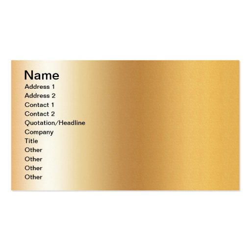 Pr103 GOLDEN GLEAM SHINY BACKGROUNDS TEMPLATES DIG Business Card Template