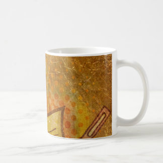 PR103 GOLDEN GRUNGE TEXTURE BACKGROUND PRINTING W CLASSIC WHITE COFFEE MUG
