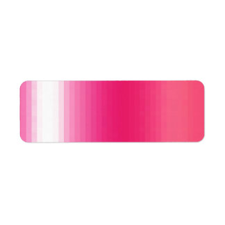 Pr103 PINKS GIRLY GRADIENTS GLEAM SHINY BACKGROUND Return Address Label