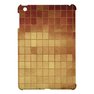 Pr 088 WORN GOLDEN GOLD BROWN MEXICAN TILES SQUARE iPad Mini Cover