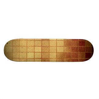 Pr 088 WORN GOLDEN GOLD BROWN MEXICAN TILES SQUARE Custom Skateboard