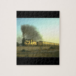 PR 0-6-0 catches the evening_Steam Trains Jigsaw Puzzle