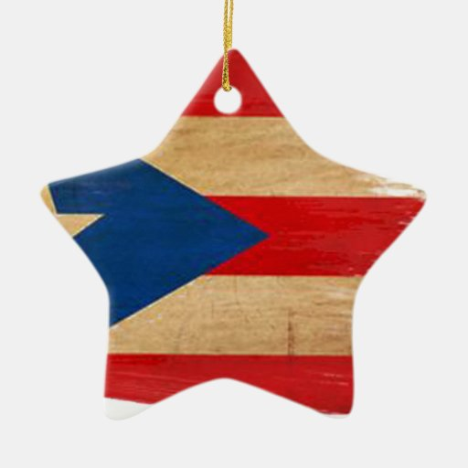 PR Flag Copy.png Double-Sided Star Ceramic Christmas