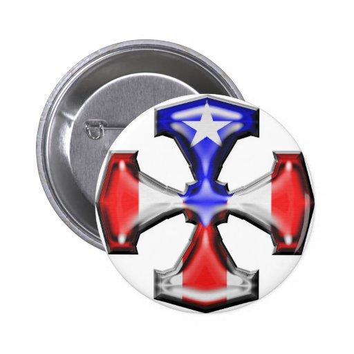 PR Flag Iron Cross Pins