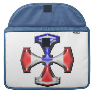 PR Flag Iron Cross Sleeves For MacBook Pro