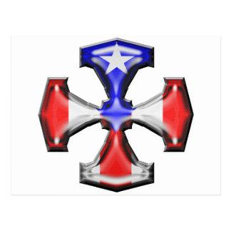 PR Flag Iron Cross Postcard
