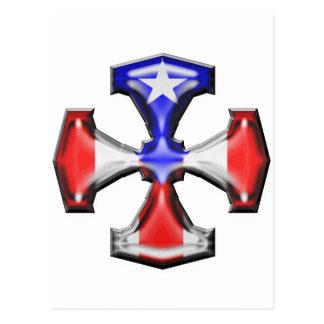 PR Flag Iron Cross Post Card