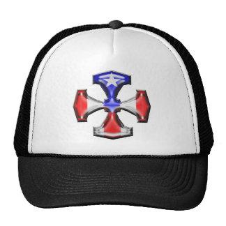 PR Flag Iron Cross Trucker Hat