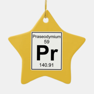 Pr - Praseodymium Ceramic Ornament