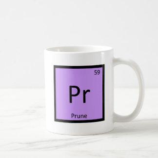 Pr - Prune Fruit Chemistry Periodic Table Symbol Coffee Mug