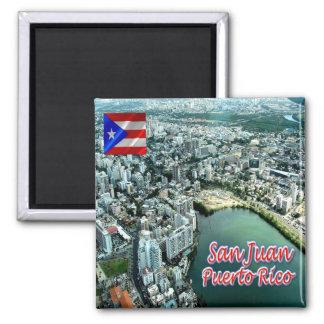 PR - Puerto Rico - San Juan Panorama Magnet