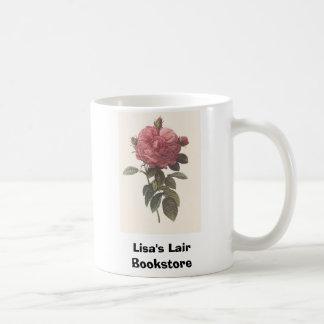 PR Redoute - Rosa gallica flore giganteo Rose Classic White Coffee Mug