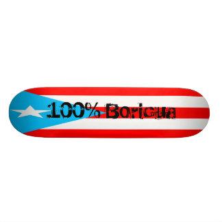 PR skateboard, 100% Boricua Skateboard Deck
