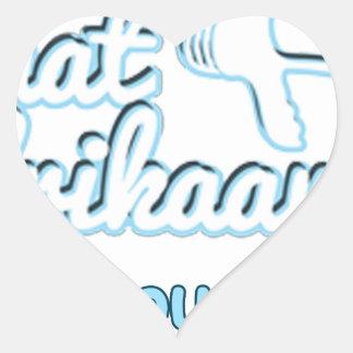 Praat-Afikaans-Of-Hou-Jou-Bek Heart Sticker