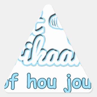 Praat-Afikaans-Of-Hou-Jou-Bek Triangle Sticker