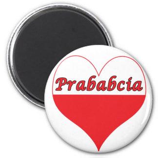 Prababcia Polish Heart 2 Inch Round Magnet