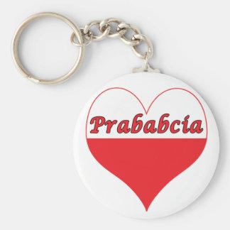 Prababcia Polish Heart Keychain