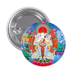 Prabhutaratna Buddha Cool oriental Padmakumara Pinback Buttons