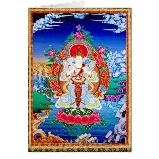 Prabhutaratna Buddha Cool oriental Padmakumara Greeting Card
