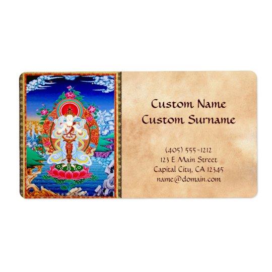 Prabhutaratna Buddha Cool oriental Padmakumara Label