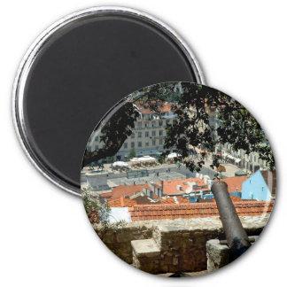 Praça da Figueira 2 Inch Round Magnet