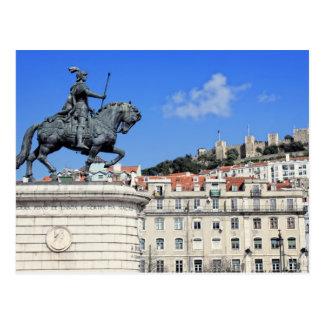 Praca da Figueira, Lisbon, Portugal Postcard