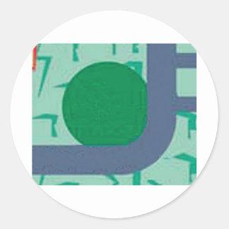 praçacirc CoPy corner of the green square map of t Classic Round Sticker