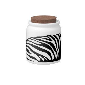 Pracing Zebra Candy Jars