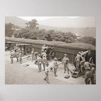 Práctica 1905 de la artillería de West Point Poster