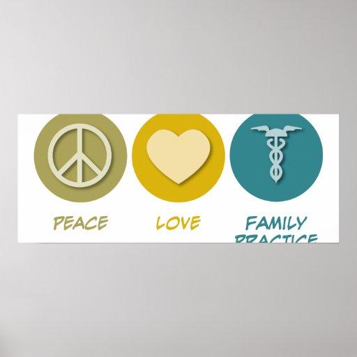 Práctica de la familia del amor de la paz poster