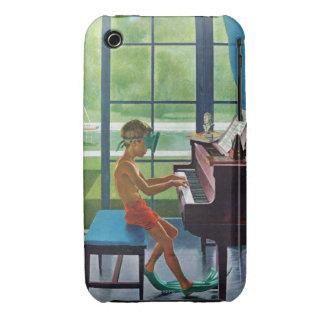 Práctica del piano del Poolside iPhone 3 Case-Mate Coberturas