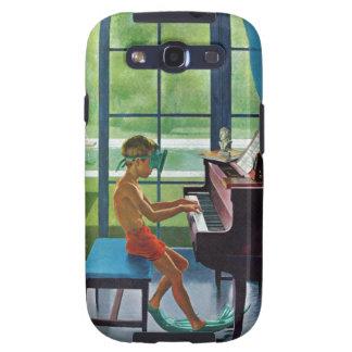Práctica del piano del Poolside Galaxy S3 Cobertura
