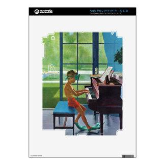 Práctica del piano del Poolside Pegatinas Skins Para iPad 3