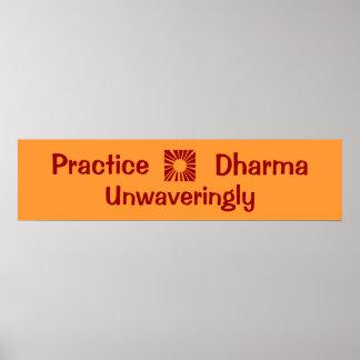 Práctica, Dharma, constante Impresiones
