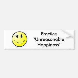 """Práctica """"felicidad irrazonable """" pegatina para auto"""
