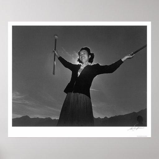 Práctica Florencia Kuwata 1943 del bastón Impresiones