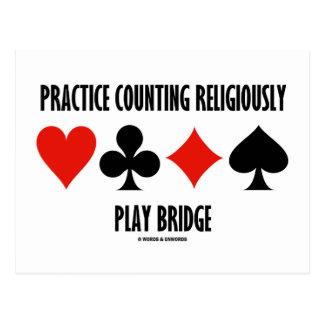 Práctica que cuenta religioso el puente del juego tarjeta postal