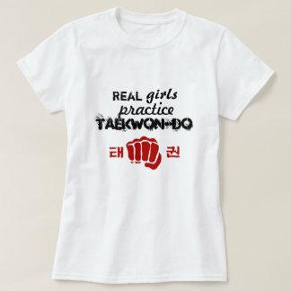 Práctica real el Taekwondo de los chicas Playera