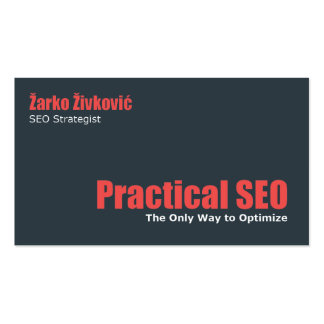 Practical SEO Business Cards