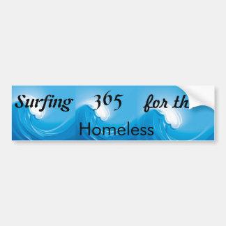 Practicar surf 365 para los desamparados etiqueta de parachoque