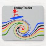 Practicar surf el Internet Alfombrillas De Ratones